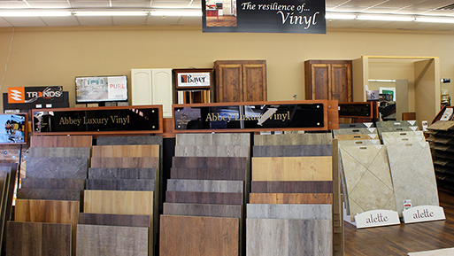 Duracermic vinyl and tile is durable and long lasting. Visit Abbey Design Center today to view our selection of vinyl and tile flooring.